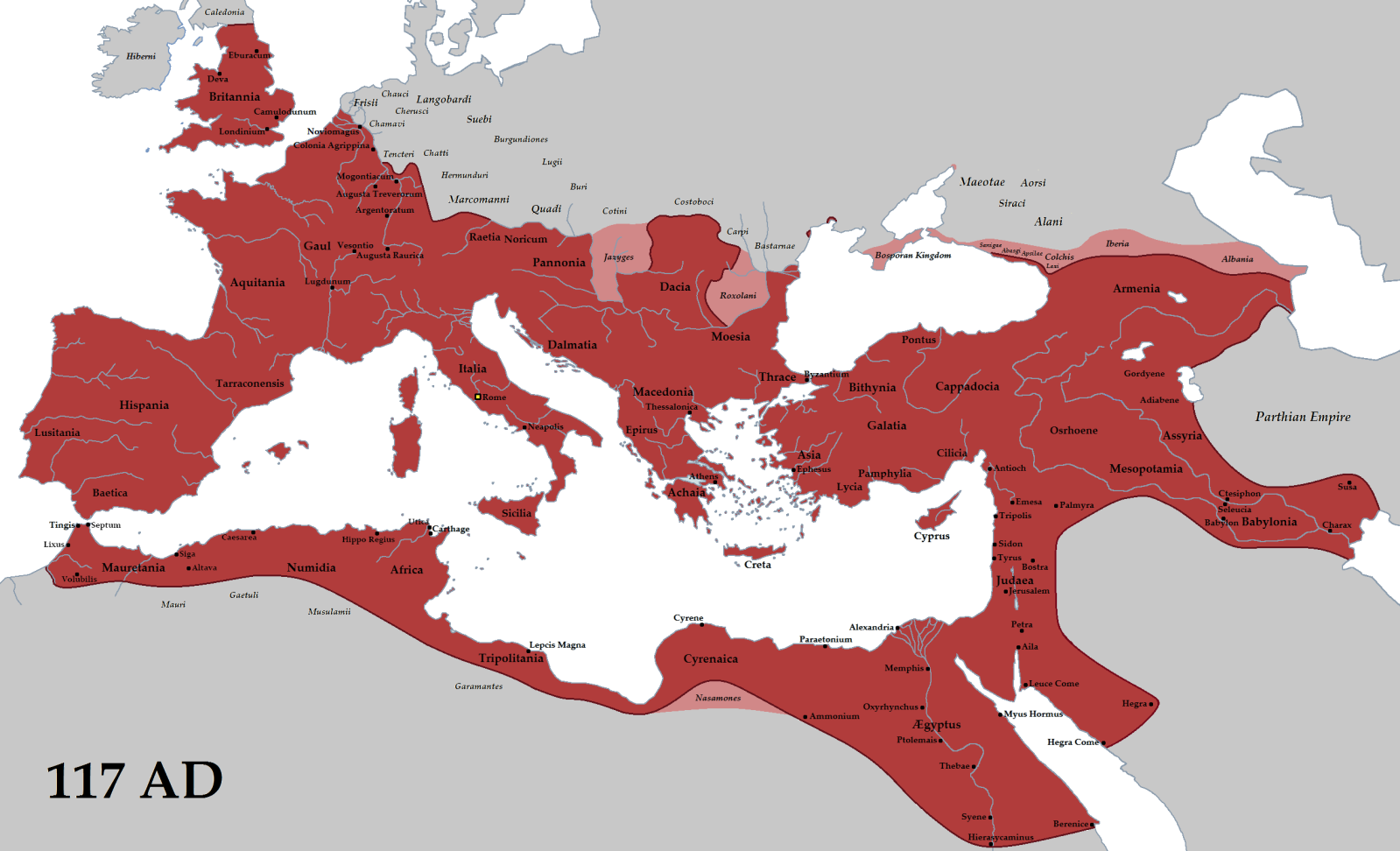 خريطة الأمبراطورية الرومانية