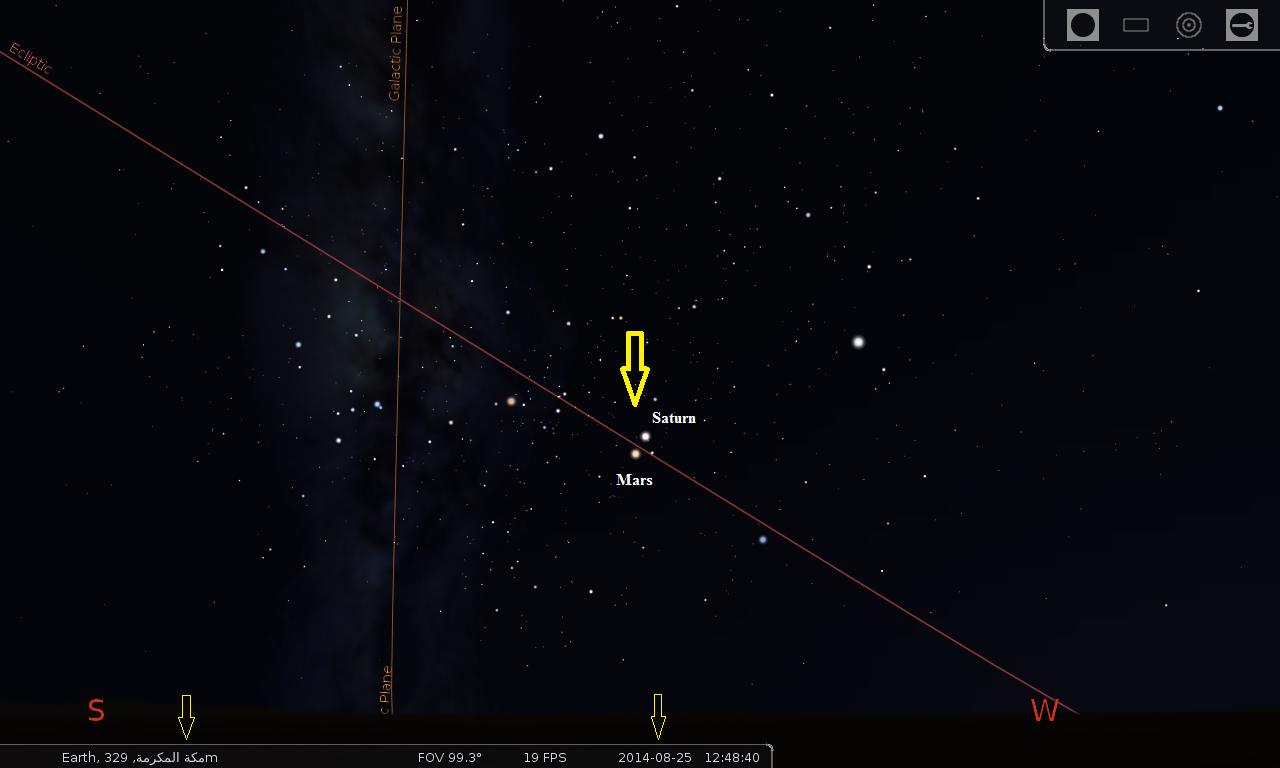 Saturn - Mars Conjunction